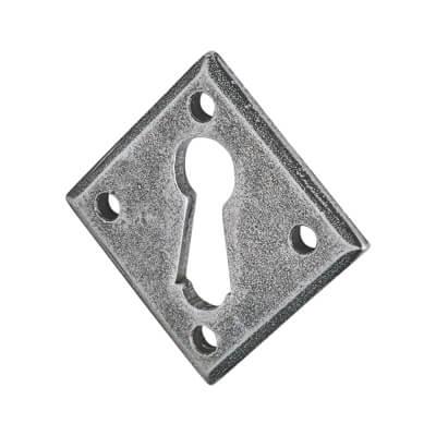 Olde Forge Diamond Escutcheon - Keyhole - Pewter