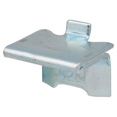 ION Heavy Duty Raised Bookcase Clip - Bright Zinc Plated - Pack 10)