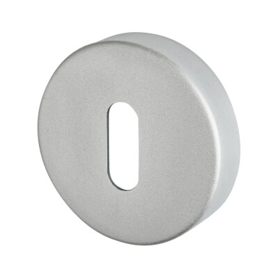 Project Puma Escutcheon - Keyhole - Satin Aluminium