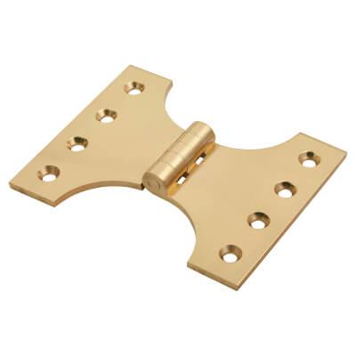 Jedo Heavy Parliament Hinge - 102 x 75 x 127mm - Polished Brass