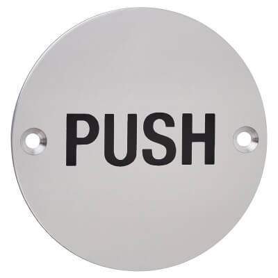 Push - 75mm - Satin Aluminium)