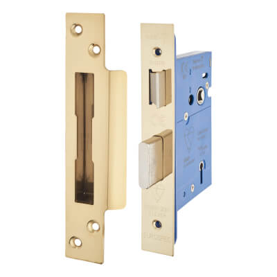 A-Spec BS3621 5 Lever Sashlock - 78mm Case - 57mm Backset - PVD Brass