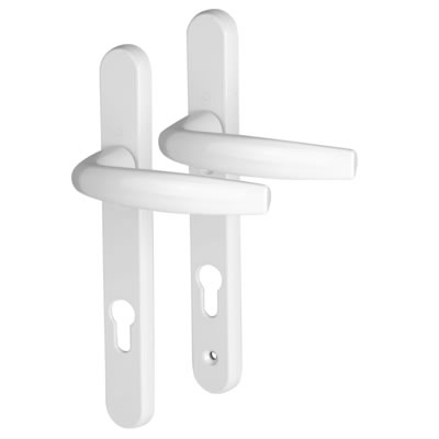 Hoppe Atlanta Multipoint Handle - uPVC/Timber - 92mm centres - 70mm door thickness - White