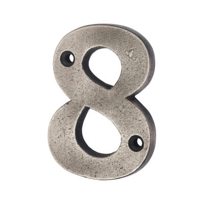 Olde Forge 78mm Numeral - 8 - Pewter