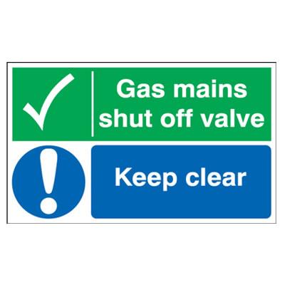 Gas Mains Shut Off Valve/Keep Clear - 300 x 500mm)