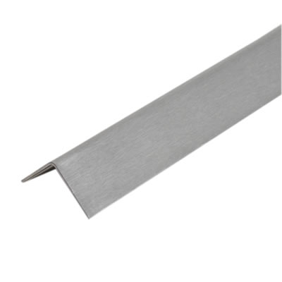2000mm Angle - 25 x 25 x 0.91mm - Satin Stainless Steel)