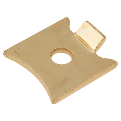 ION Standard Raised Bookcase Clip - Electro Brass Plated - Pack 10)