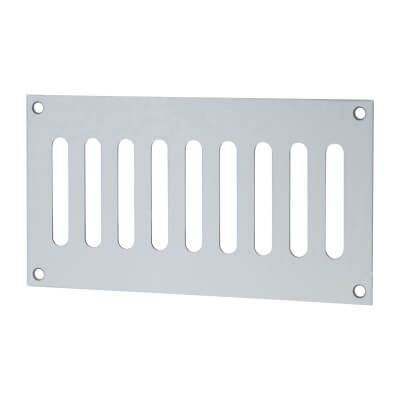 Plain Slotted Vent - 165 x 89mm - 3040mm2 Free Air Flow - Satin Aluminium
