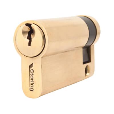 5 Pin Cylinder - Euro Single - 56mm - Brass