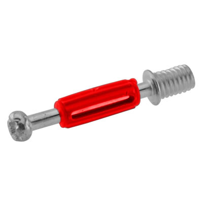 Thread Dowel - Cam Centre/Pin Length 28mm - Red - Pack 50