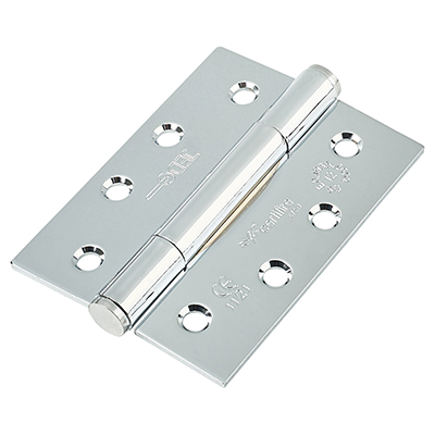 Jedo Concealed Ball Bearing Steel Hinge - 102 x 76 x 3mm - Polished Chrome - Pair