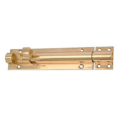 Straight Barrel Bolt - 200 x 40mm - Polished Brass