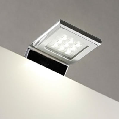 Leyton LED Square Over Cabinet Light With Driver - 62 x 100mm - 2 x 1.6W)