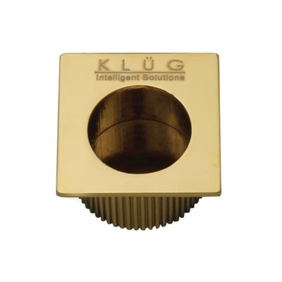 KLÜG Square Door Edge Finger Pull - 30 x 30mm - PVD Brass)