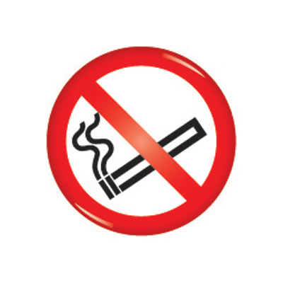 Domed Office Sign - No Smoking - 60mm