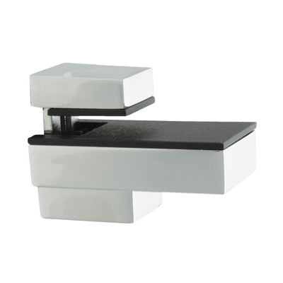 Decorative Shelf Support Bracket - 6-12mm Shelf Thickness - Polished Chrome