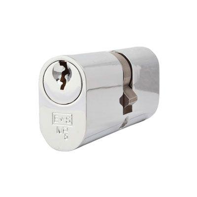 Eurospec MP5 - Oval Double - 35 + 35mm - Polished Chrome  - Keyed Alike