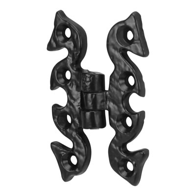 Elden Antique Snake Hinge - 69 x 51mm - Antique Black Iron
