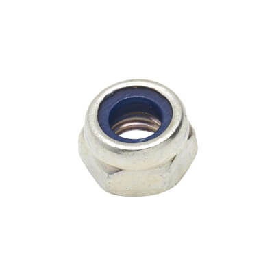 Self Locking Nut Nylon Insert - M5 - Zinc Plated - Pack 25