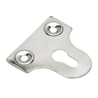 Slotted Glass Plate - 32mm - Chrome Plated - Pack 10