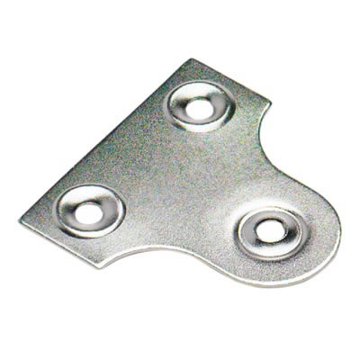 Glass Plate - 32mm - Chrome Plated - Pack 10