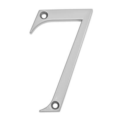 76mm Numeral - 7 - Satin Chrome