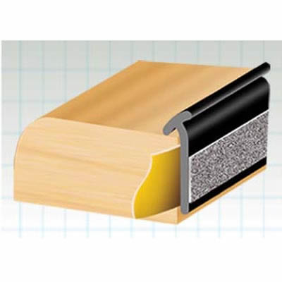 Exitex Lipped Glazing Tape - 33 metres - Black
