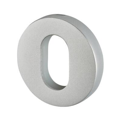 Altro Plus Escutcheon - Oval - Satin Aluminium