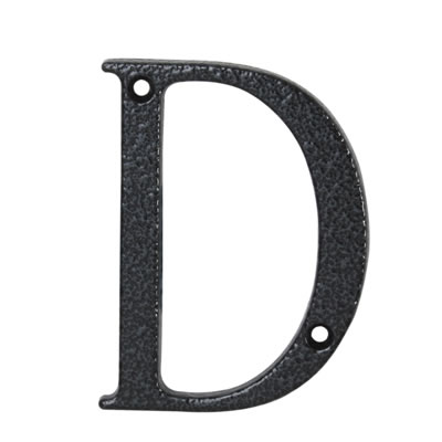 76mm Letter - D - Antique Black Iron