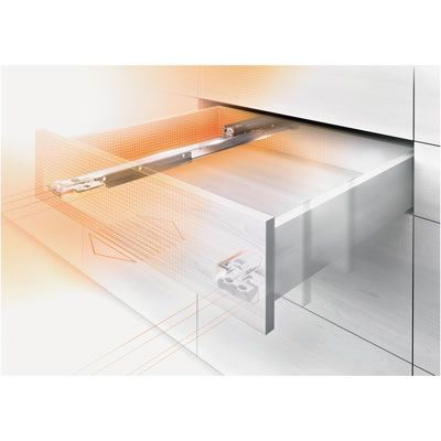 Blum Movento Drawer Runner - Integrated BLUMOTION (Soft Close) - Double Extension - 60kg - 650mm