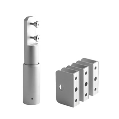 Cubicle Pack 'B' - 17-19mm Panels - Satin Anodised Aluminium