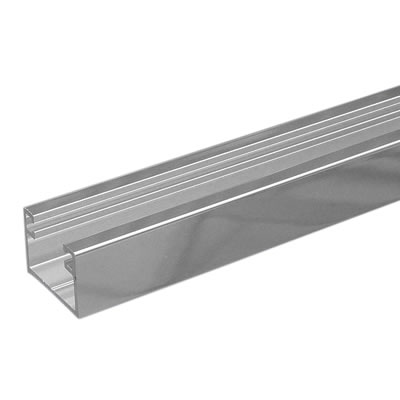 Dry Glazing Channel - 10mm Glass - Polished Aluminium