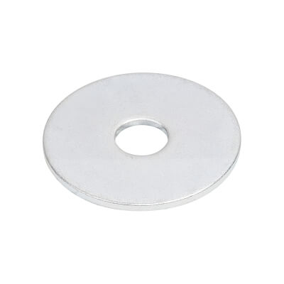 Penny Repair Washer - 25mm Diameter x 6mm Hole - Zinc Plated - Pack 10