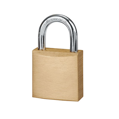 Solid Brass Padlock - 20mm - Keyed Alike Key No 2