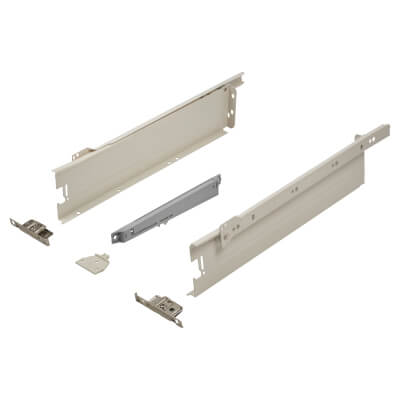 Blum METABOX BLUMOTION Soft Close Drawer Pack - Single Extension - 86mm (H) x 450mm (D) - 30kg