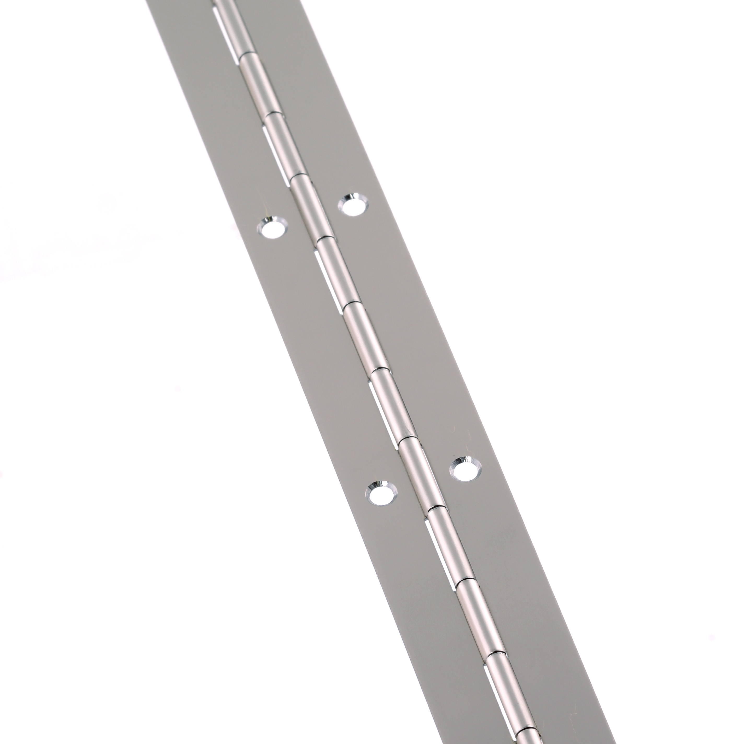 Steel Piano Hinge - 1800 x 25 x 0.7mm - Nickel Plated)