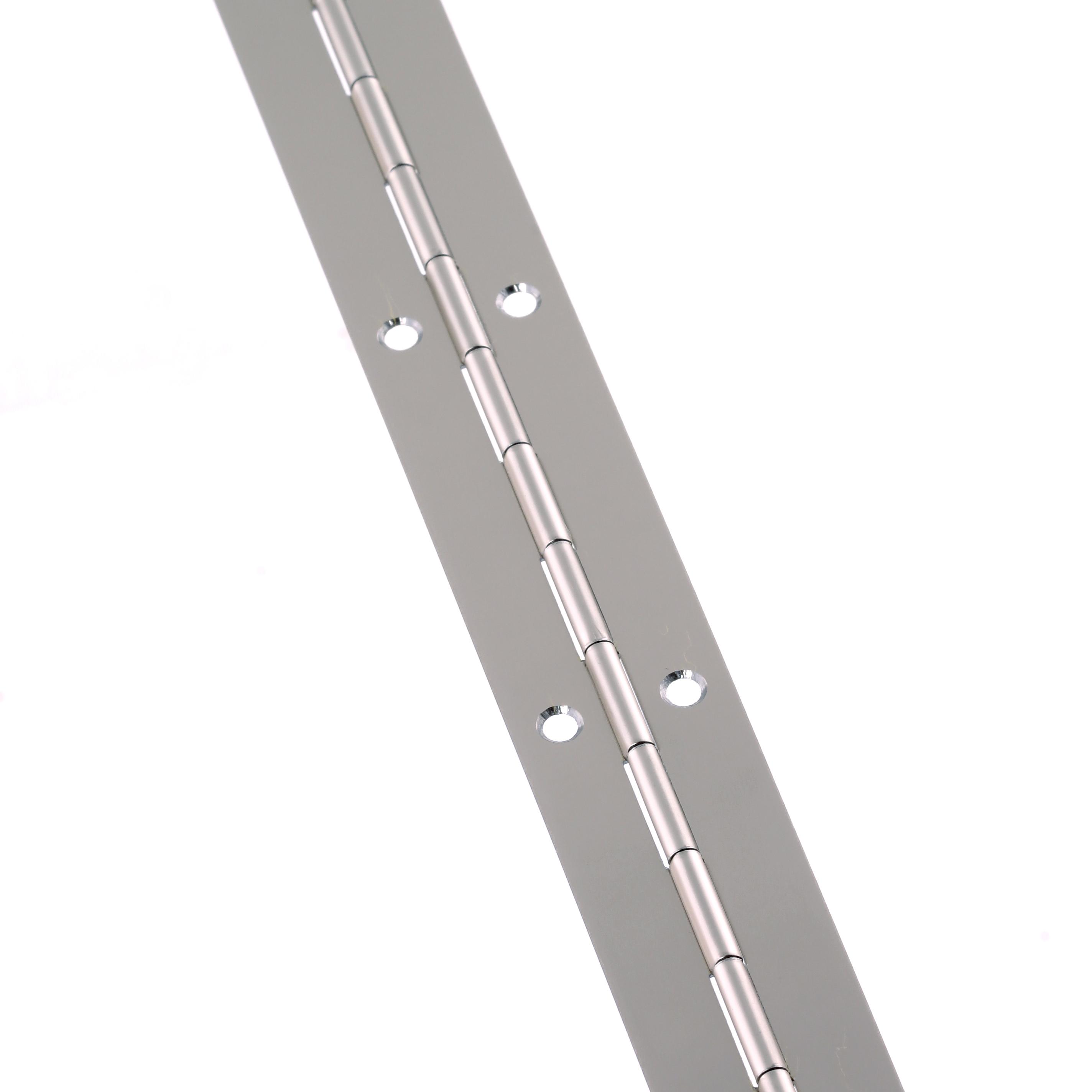 Steel Piano Hinge - 1800 x 25 x 0.7mm - Nickel Plated)