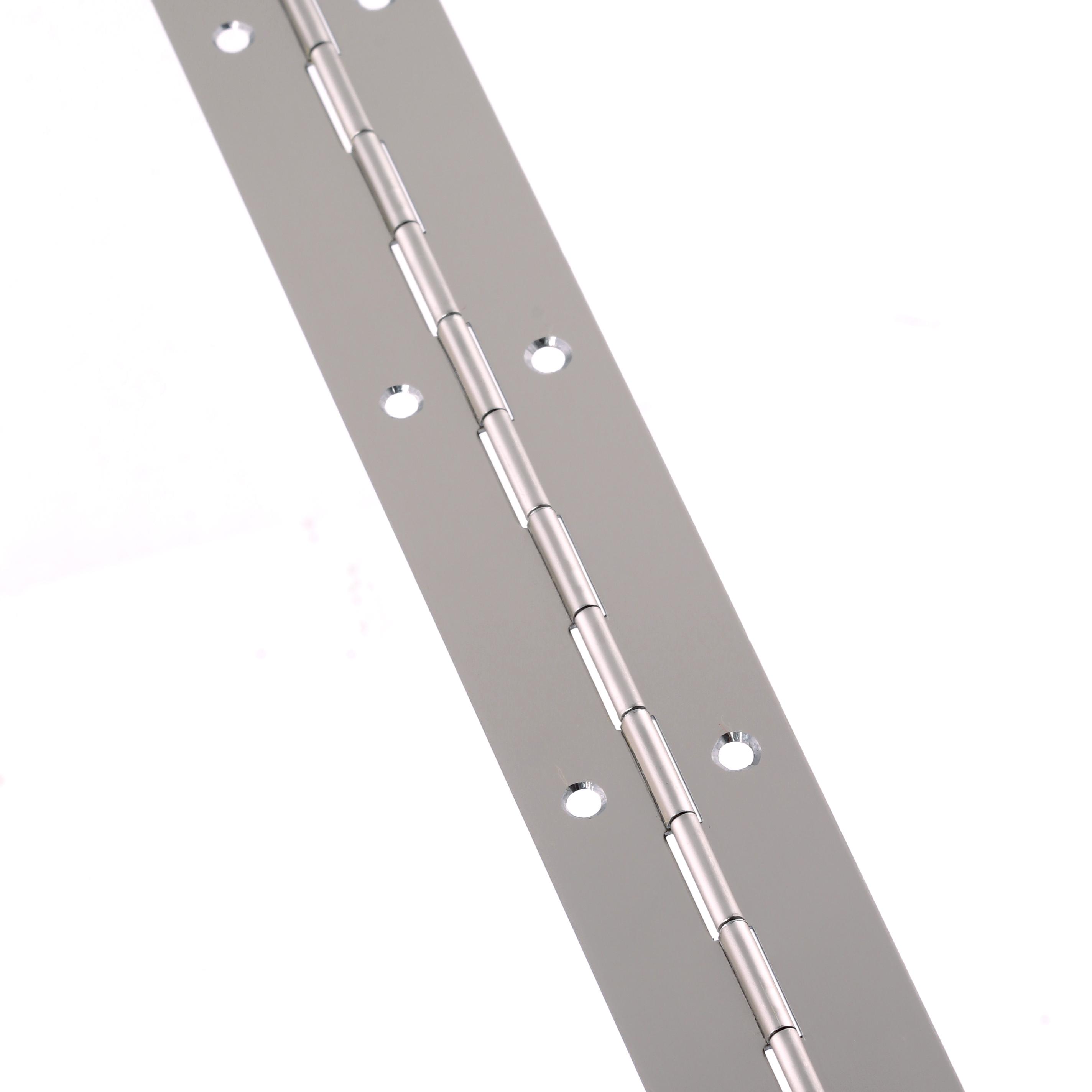 Steel Piano Hinge - 1800 x 32 x 0.7mm - Nickel Plated)