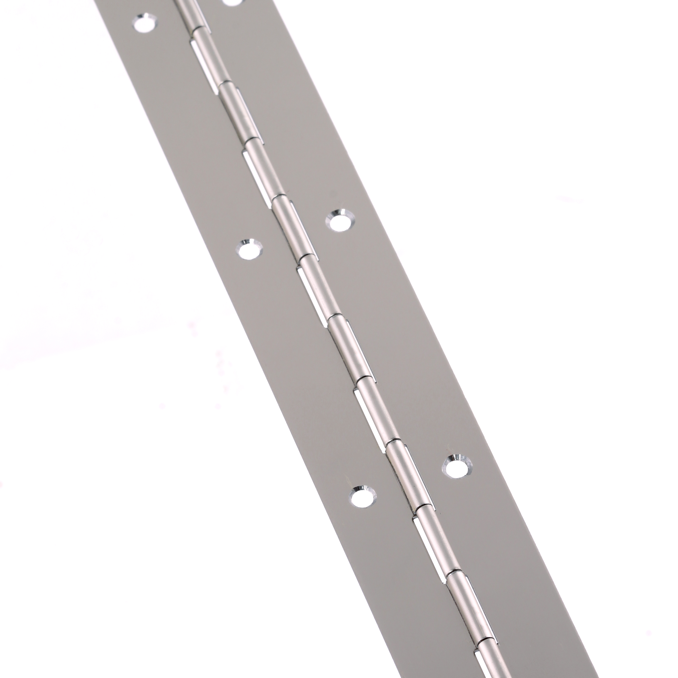 Steel Piano Hinge - 1800 x 32 x 0.7mm - Nickel Plated)