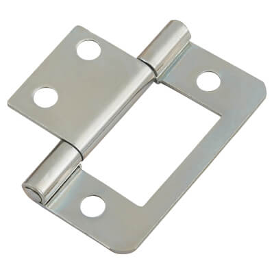 Flush Hinge - 40mm - Zinc Plated - Pack of 10 pairs