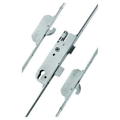 GU Ferco Multipoint Door Lock - 2 Hook - 92mm Centres - 28mm Backset - uPVC / Timber