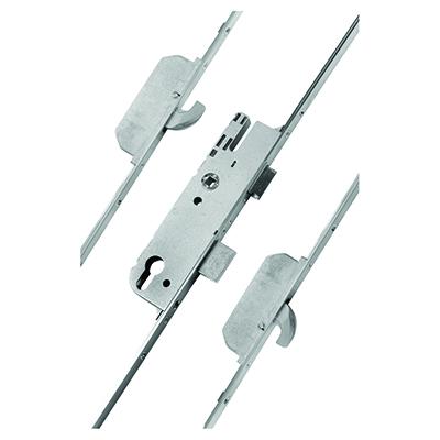GU Ferco Multipoint Door Lock - 2 Hook - 92mm Centres - 28mm Backset - uPVC / Timber