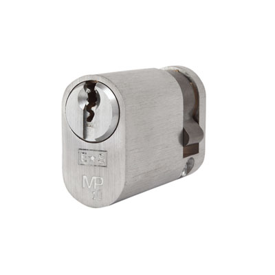 Eurospec MP10 - Oval Single Cylinder - 35 + 10mm - Satin Chrome  - Keyed to Differ