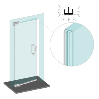 Glass door seals cce norsound ironmongerydirect cce glass lip seal 2500mm planetlyrics Images