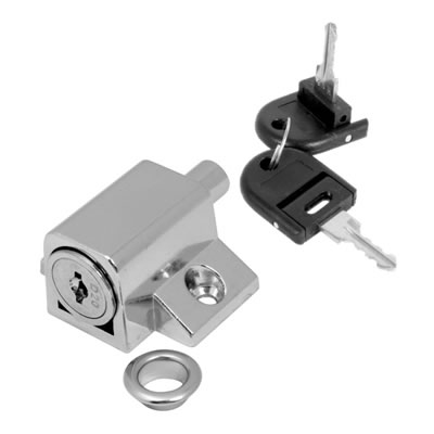 Push Type Window Lock - Keyed Alike Differ 1 - Chrome Plated