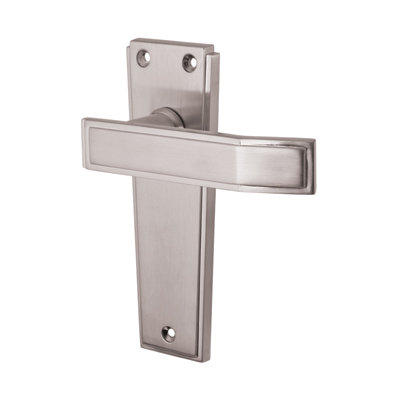 Jedo Deco Door Handle - Latch Set - Satin Chrome