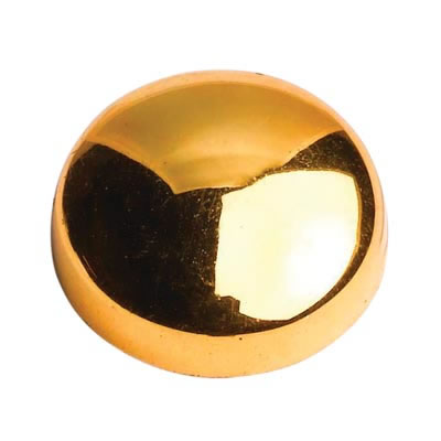 Plastic Screw Dome - Brass Plated