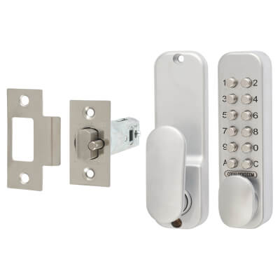 Codelock CL160 Mechanical Easycode Lock - Silver)