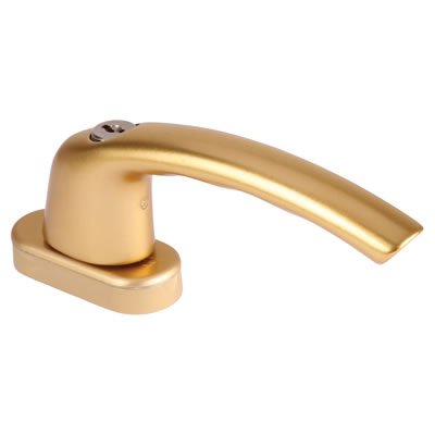 Hoppe TBT1 Locking Tilt Before Turn Handle - uPVC / Timber - Anodised Gold
