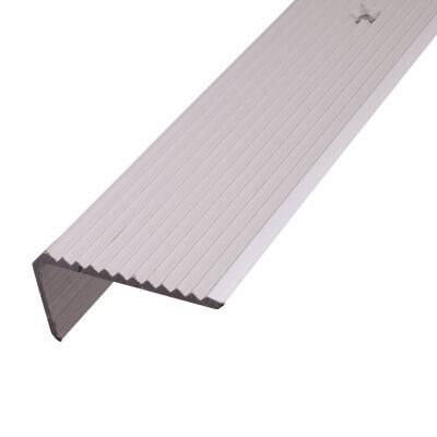 2000mm Rib Drilled Edge - 41 x 23 x 1.5mm - Satin Anodised Aluminium